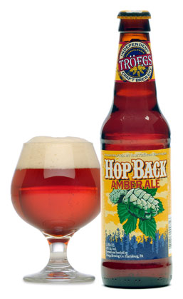 Glass of Tröegs HopBack